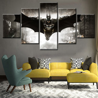 5 Pieces Modern Movie Batman Painting Home Goods Wall Art Painting Wall Pictures Home Decor Wall Decoration Painting on Canvas