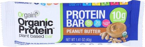 Orgain Organic Protein Bar, Peanut Butter, Gluten Free, Non-GMO, USDA Organic, 1.41 Ounce, 12 Count