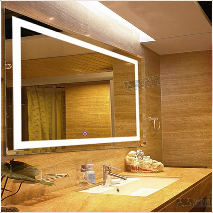 fabrik billige touchscreen beleuchtet badezimmerspiegel mit led licht led02 badspiegel produkt. Black Bedroom Furniture Sets. Home Design Ideas