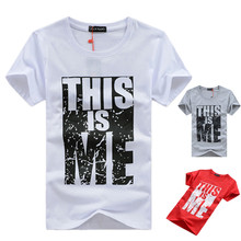 Brand Clothing Men T-shirt Swag T-Shirt Men 95% Cotton Print Men T shirt Homme Fitness Camisetas Hip Hop t shirt Men
