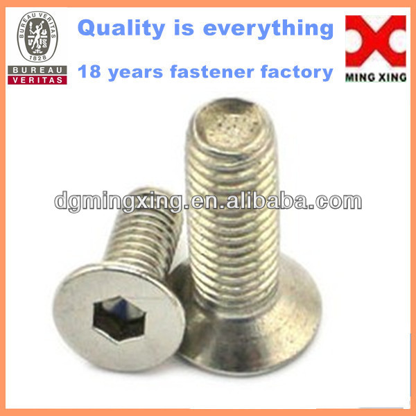 stainless steel hex socket flat head machine screw, Fender Bumper Washers Bolts