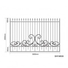 Wrought iron Fence / decorative elegant scroll fencing