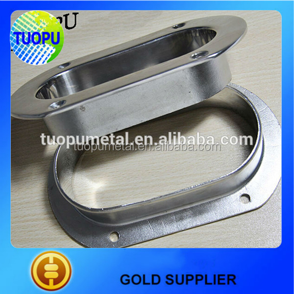 Stainless steel hawse pipe,oval hawse pipe,boat hawse pipe with cleats