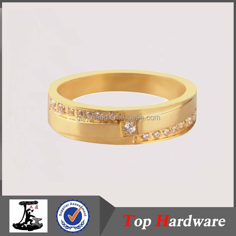 HOT SALE imitation gold plated jewelry stainless steel ring latest design wedding ring engagement ring