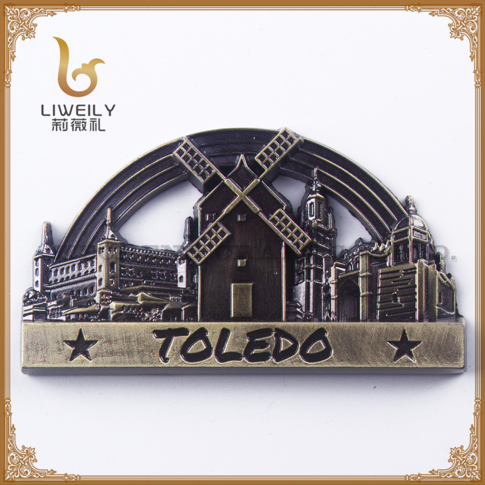 2017 Toledo Spain Metal Magnet Souvenir,New