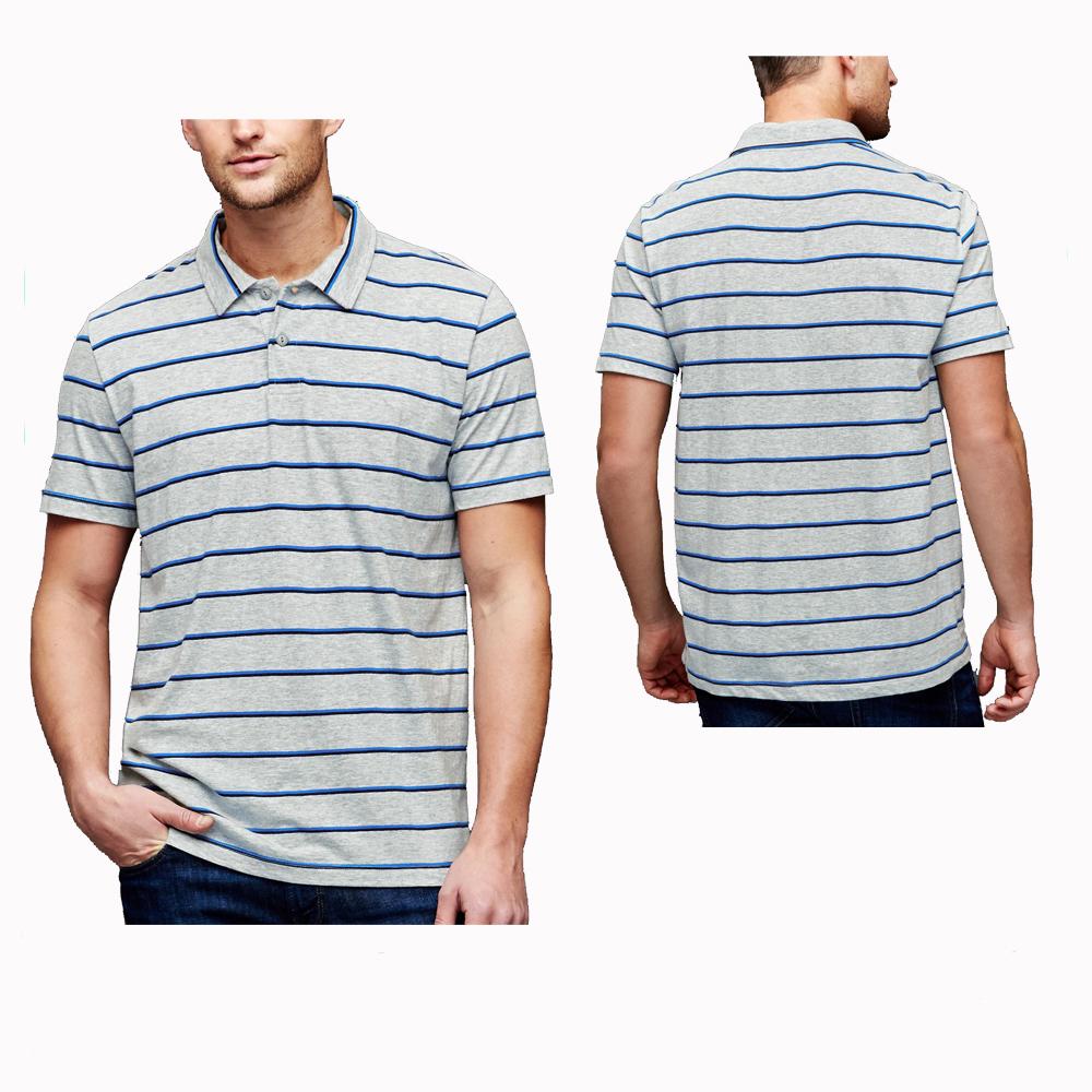 Wholesale Polo Shirts Stripe Design Color Combination Custom Mens