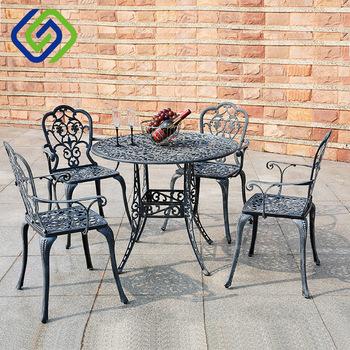 Tavolo Sedie Giardino Cemento.Ghisa Ghisa Patio Di Alluminio Cemento Casa Giardino Tavolo E
