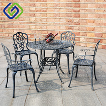 cast iron cast aluminum patio / cement / home garden table and chairs folding wooden beer garden furniture