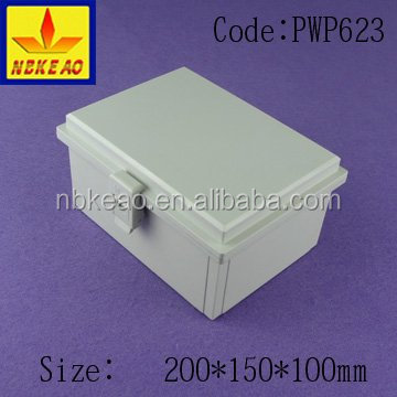 plastic waterproof outdoor enclosures with hinged door