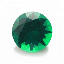 Round brilliant cut new arrival gemstone synthetic factory price emrald dark green stone