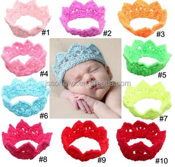 Crown Design Baby Crochet Headbandknitting Crown Baby Headband