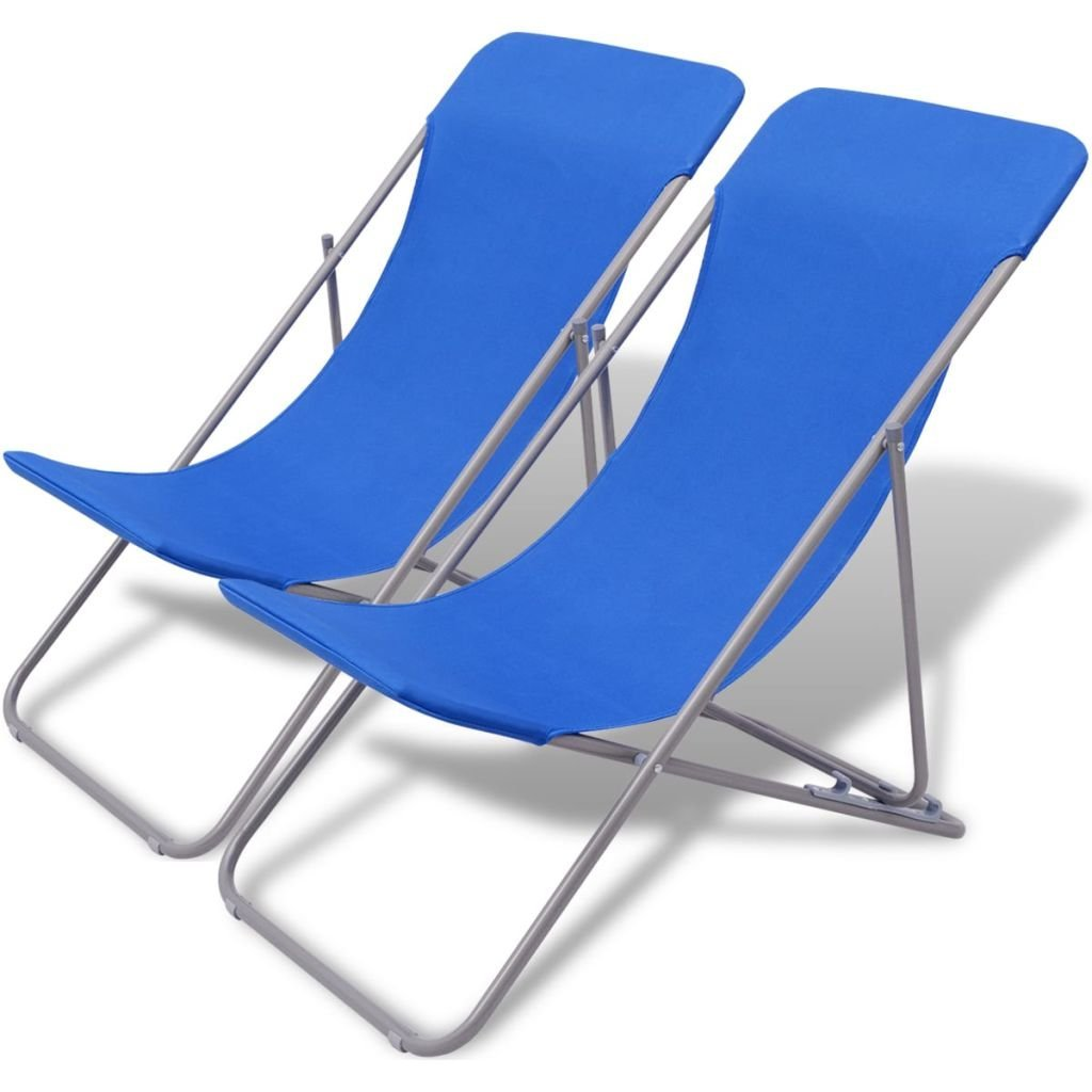 Get Quotations Folding Beach Chairs 2 Pcs Blue Chair Size 32 7 X 22