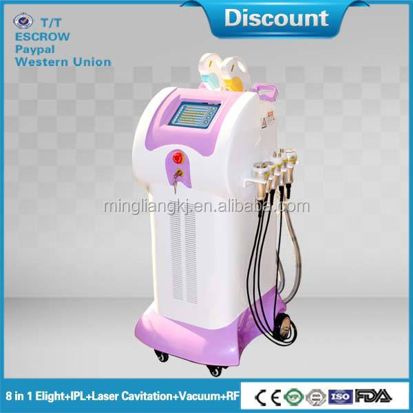 2012 New multi-functional Vertical IPL beauty equipment (ML Ultrasound+IPL+RF+VACUUM YB8)