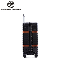 Custom processing luxury cheap aluminum frame pull rod box rose gold abs luggage pc