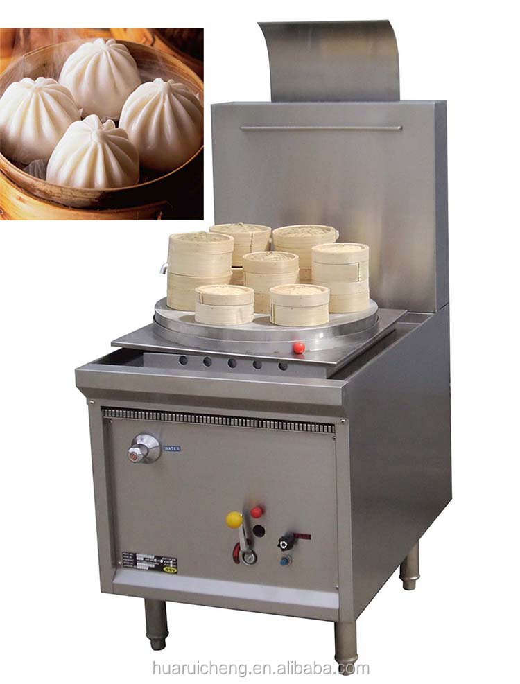 Asia restaurant kitchen heavy duty commercial bao steamer