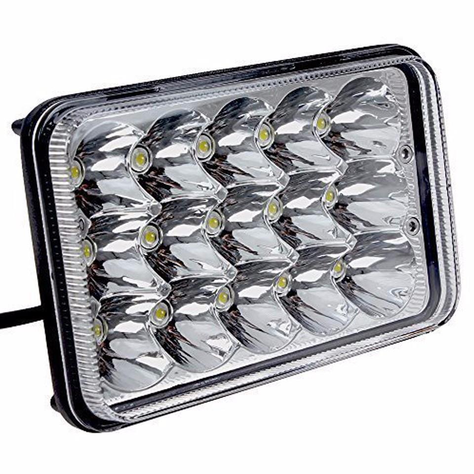 pair 4x6 led headlights sealed beam bulb kenworth h4656 h4666 h6545 freightliner ebay. Black Bedroom Furniture Sets. Home Design Ideas