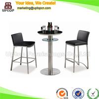 (SP-BT684) Luxury nightclub disco upholstered stool pub tables sets