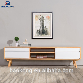 New Design Simple White Colour Tv Stand Modern Living Room Cabinet