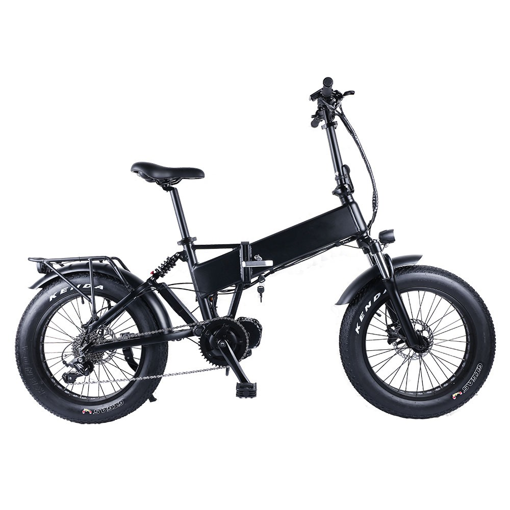 Bafang 48V 1000W Mid Motor 20 inch Folding Snow Fat Electric Bike Bicycle tire 20x4.0 Classic Electric Bicycle