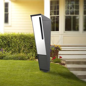 moderne freistehende briefk sten outdoor metall brief box. Black Bedroom Furniture Sets. Home Design Ideas