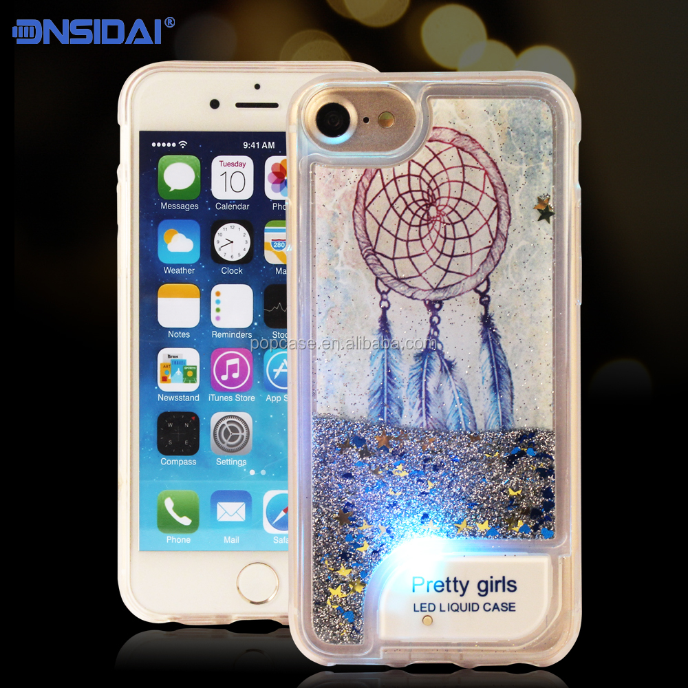 2017 Brand New LED Liquid Flash Cellular Phone Case for Iphone7