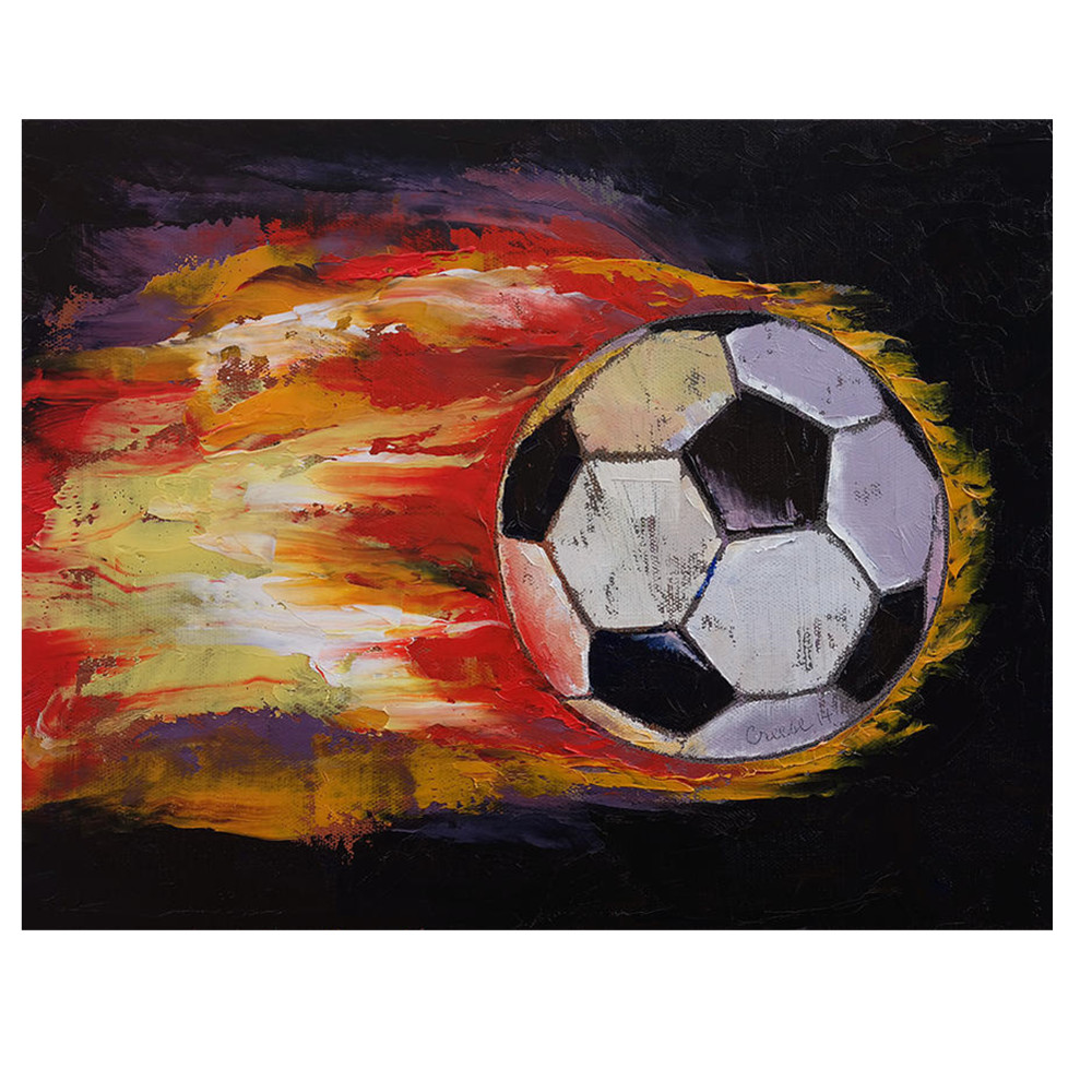 Abstract Handmade Soccer Ball Wall Art Decor Canvas Painting For Kids Room Buy Decoration Wall Painting Canvas Art Painting Kids Room Ball Painting