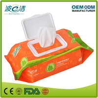 High Quality 80PCS Skincare Cleaning Moist Wet Baby Wipes