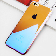 Transparent Gradient Colorful Hard Phone Shell Luxury Optical Anti-sctratch PC Case for iPhone 7 7Plus 8 8Plus X