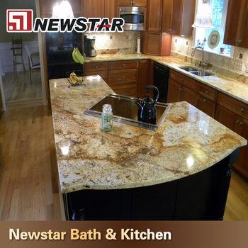 Attirant 2014 Grade AAAA Solid Surface Golden Persa Granite Countertops