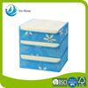 promote hot sale blue high quality cardboard storage stool drawer folding storage organizer