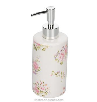 a1c2be9b24e Barato Branco Floral de Cerâmica De Espuma De Sabão Líquido Distribuidor de  preços de fábrica
