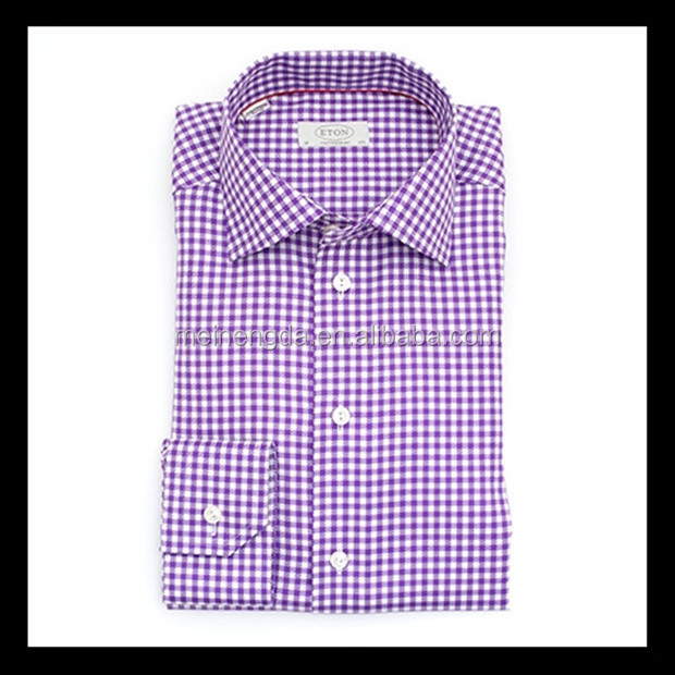 new product fancy micro check uniform white shirt for men