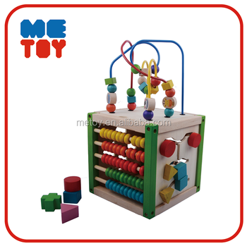 Luxury bead maze cube Counting montessori educational toys wooden Soroban abacus for teching