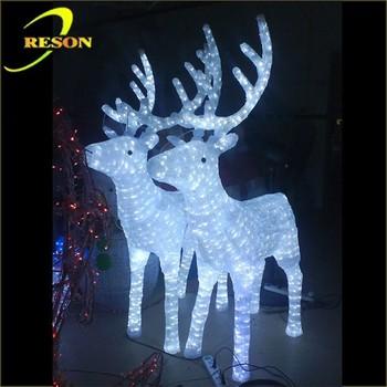 Super Heldere Led Verlichting Metalen Kerst Rendieren Decoraties ...