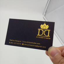 Gold supplier luxury business card printing gold foil