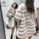 New Winter Women Natural Real Fox Fur Coat Long Jacket Parka Outwear Fashion Popular Ladies Warm Fox Fur Coats