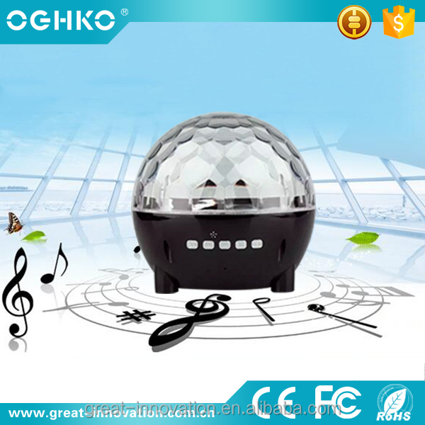 Multimedia Powered Wireless Music Bluetooth Speaker With Disco Light