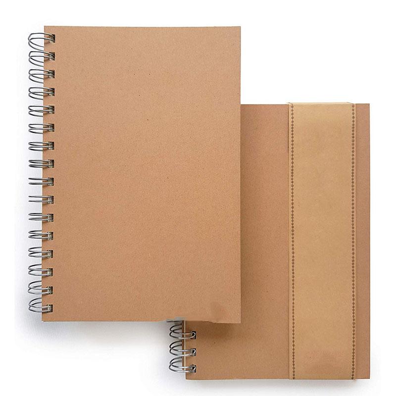A5 prezzo di Fabbrica di alta qualità kraft coperchio della carta copertina morbida griglia di stampa notebook/Pallottola notebook