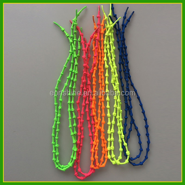 75cm Funny Round Knot Elastic Running Bamboo Shoe Lace  for Outdoors Sports Shoes