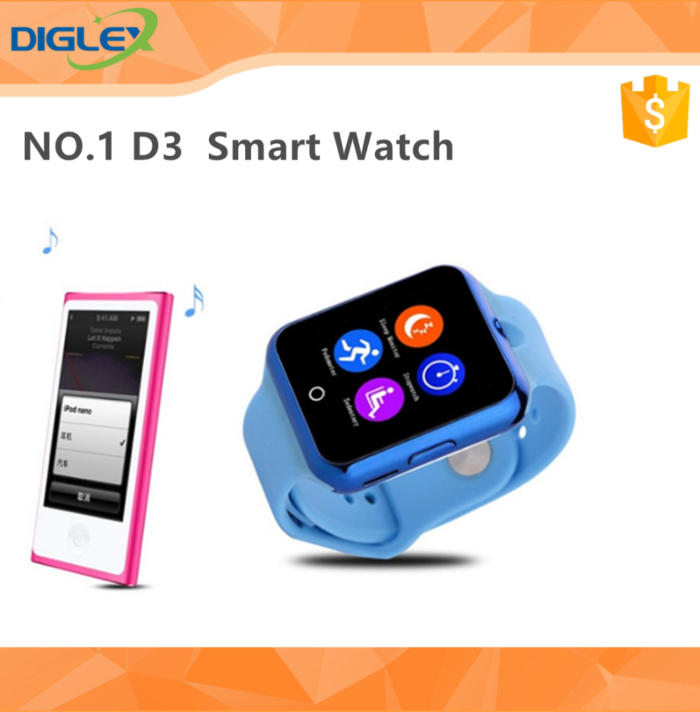 "NO.1 D3 Smart Watch Phone Watch 1.22"" Touch Screen IPS MTK626 Micro SIM 32MB ROM Green Pink Blue Black White"
