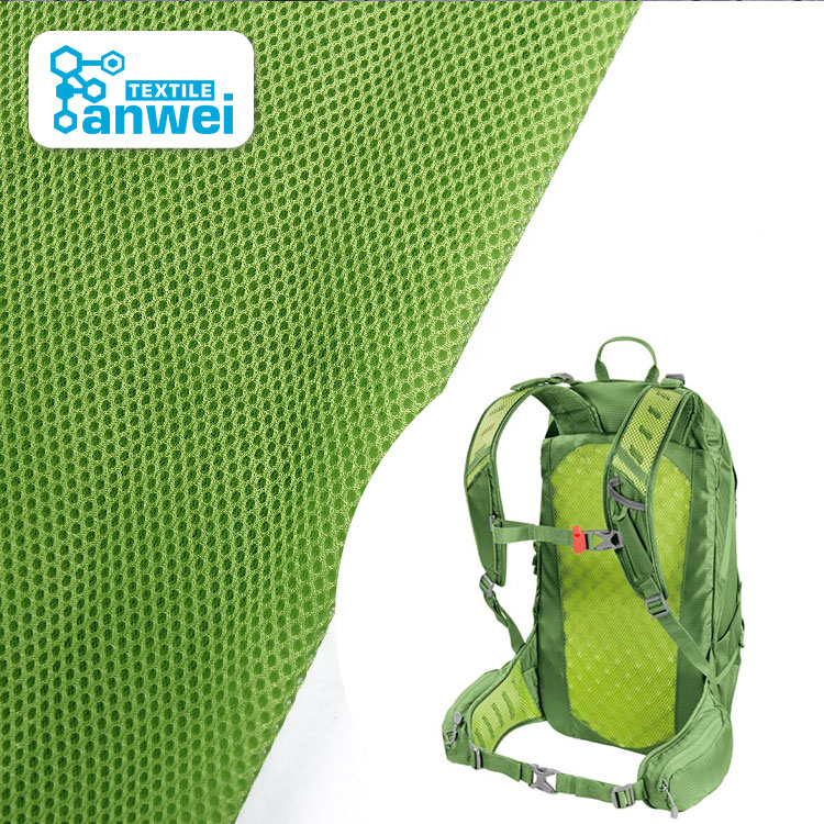 Sandwich Mesh Backpack School Bag Fabric <strong>Material</strong> 100 Polyester Tricot 75D Mesh Fabric For Bags
