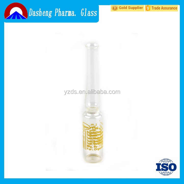 wholesale price transperent pharmaceutical empty glass ampoule