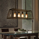 Vintage metal drop glass box led industry pendant light