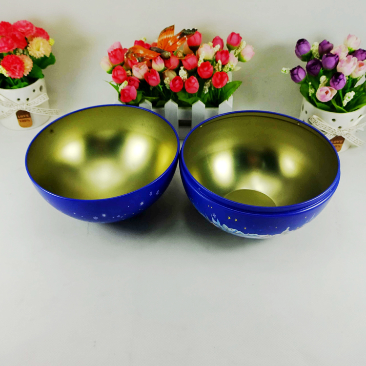 Factory price round tin ball for Christmas gift