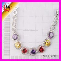 fancy design necklace with beaded love crystal bead jewelry for lady yiwu factory best sale beaded jewelry