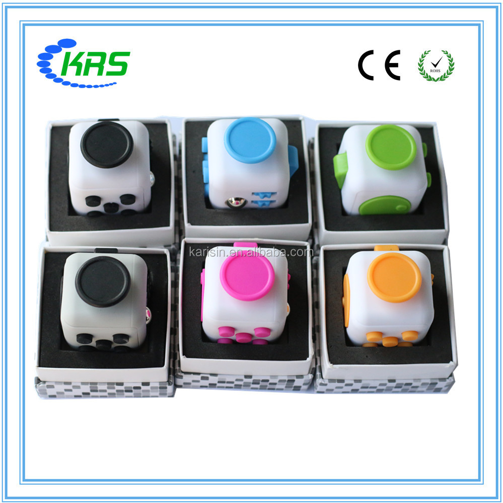 2017 factory big promotion fidget cube for Adults and children