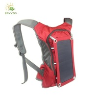 2018 solar panel backpack, portable solar bag with 30-40L water bag for cycling and camping and travel