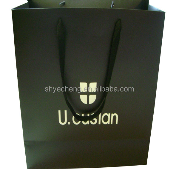 hot sales customized fashionable gift lamination custom green paper bag