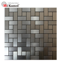 New designs H-30 peel and stick on aluminum mosaics wall murals for decoration