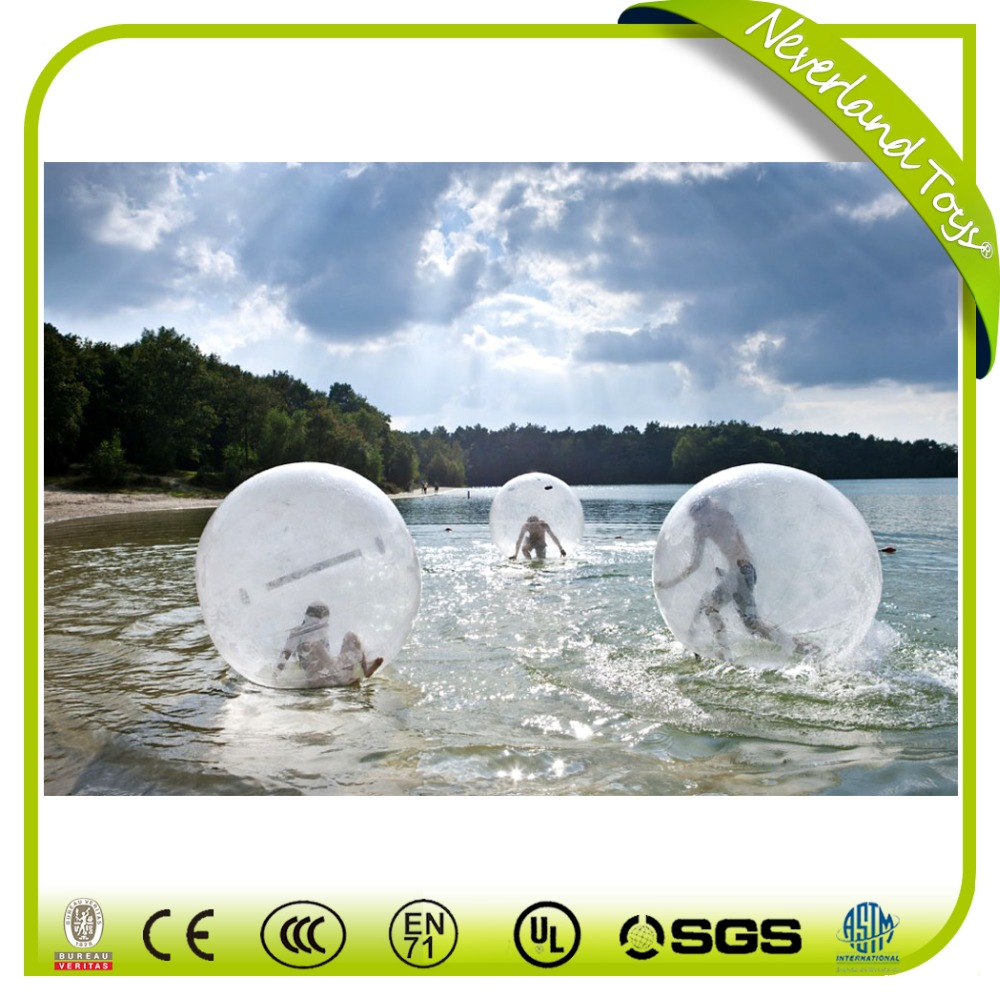 PVC promotional transparent Inflatable water walking balls for kids and parents